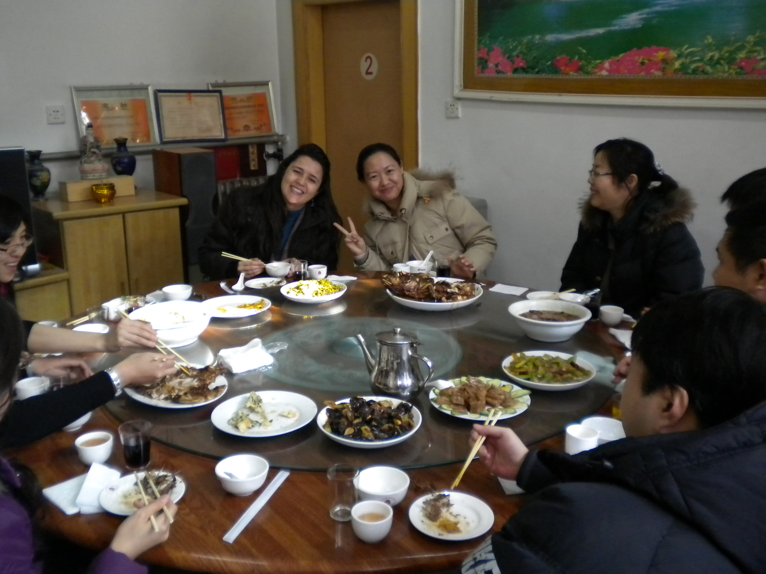 Almoço depois da reunião na casa/restaurante à 2 horas de Beijing #624227 2592 1944